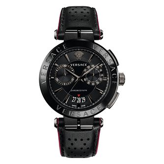 Versace V-Racer Men's Black Ion Plated Strap Watch - Product number 4706064