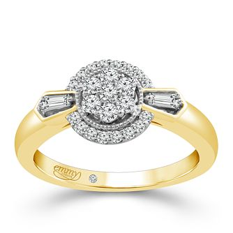 Emmy London Yellow Gold 1/3 Carat Diamond Cluster Ring - Product number 4707680