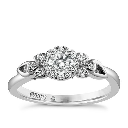 Emmy London 18ct White Gold 1/3 Carat Diamond Solitaire Ring - Product number 4708636