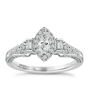 Emmy London Platinum 1/2 Carat Diamond Solitaire Ring - Product number 4710371
