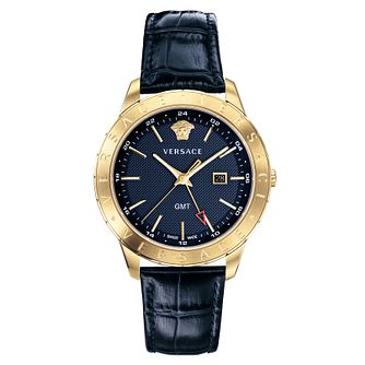Versace Business Slim Men's Blue Strap Watch - Product number 4711211