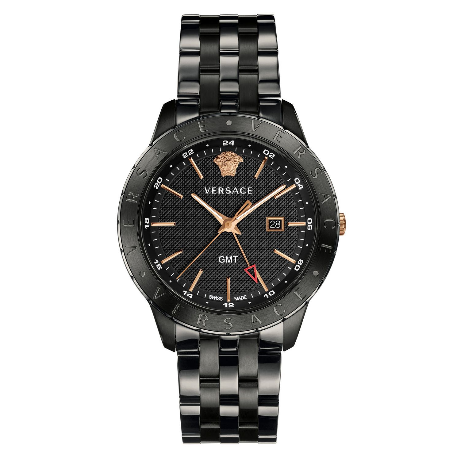 Versace Business Slim Men's Black Ion Plated Bracelet Watch - Product number 4711238