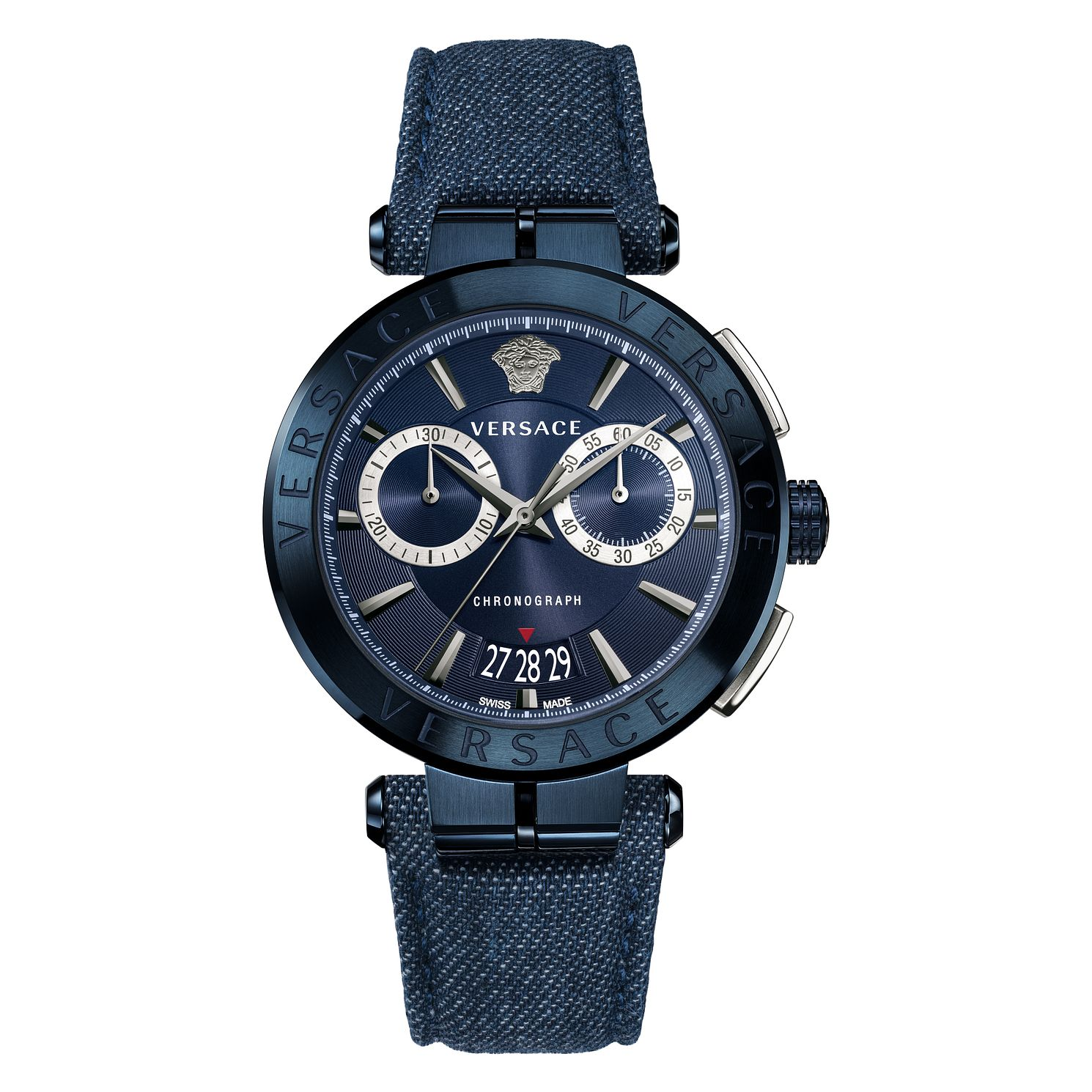 Versace Aion Chronograph Men's Blue Strap Watch - Product number 4711246