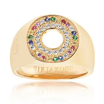 Sif Jakobs Valiano Multicolour Zirconia Signet Ring - Product number 4714709