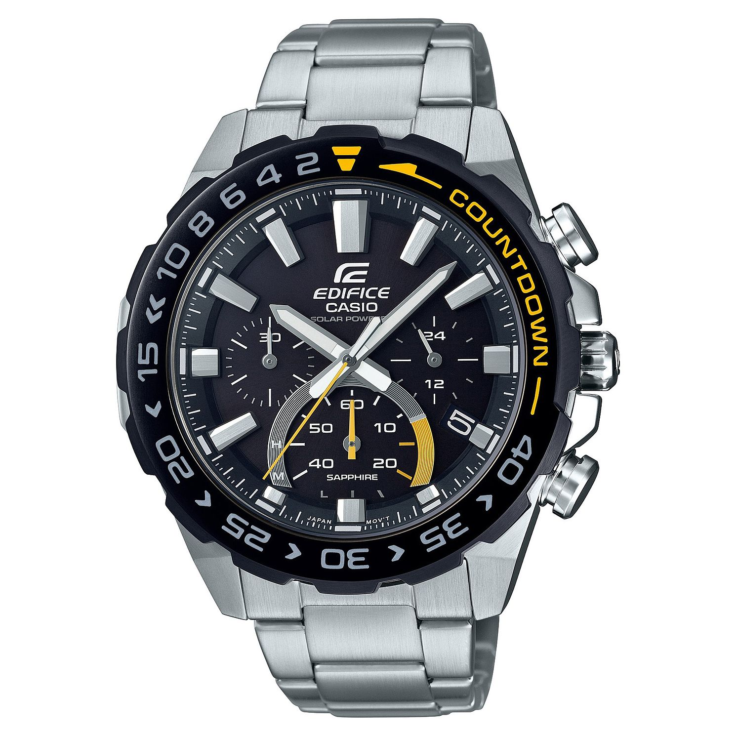Casio Edifice Countdown Men's Stainless Steel Bracelet Watch - Product number 4715241