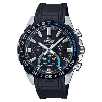 Casio Edifice Countdown Men's Black Resin Strap Watch - Product number 4715268
