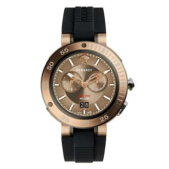 Versace V-Extreme Pro Men's Two Colour Black Strap Watch - Product number 4715373