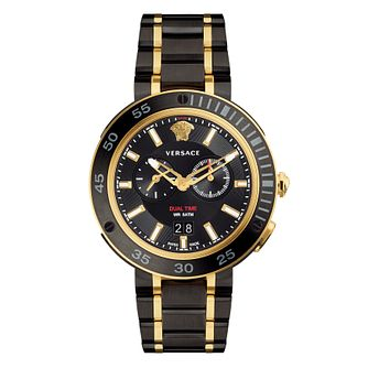 Versace Two Colour V - Extreme IP Black Bracelet Watch - Product number 4715403