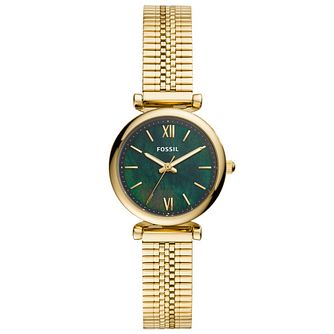 Fossil Carlie Mini Ladies' Gold Tone Mesh Bracelet Watch - Product number 4716507