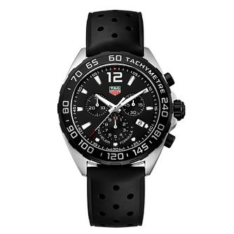 TAG Heuer Formula 1 Men's Black Rubber Strap Watch - Product number 4716973