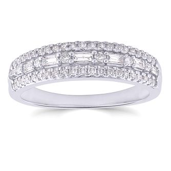 9ct White Gold 1/3ct Diamond Eternity Ring - Product number 4717880