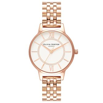 Olivia Burton Rose Gold Plated Wonderland Bracelet Watch - Product number 4718690