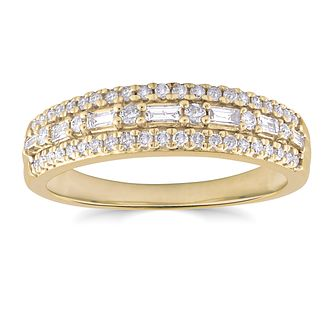 9ct Yellow Gold 1/3ct Diamond Eternity Ring - Product number 4718992
