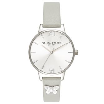 Olivia Burton Stainless Steel Butterfly Silver Strap Watch - Product number 4719077