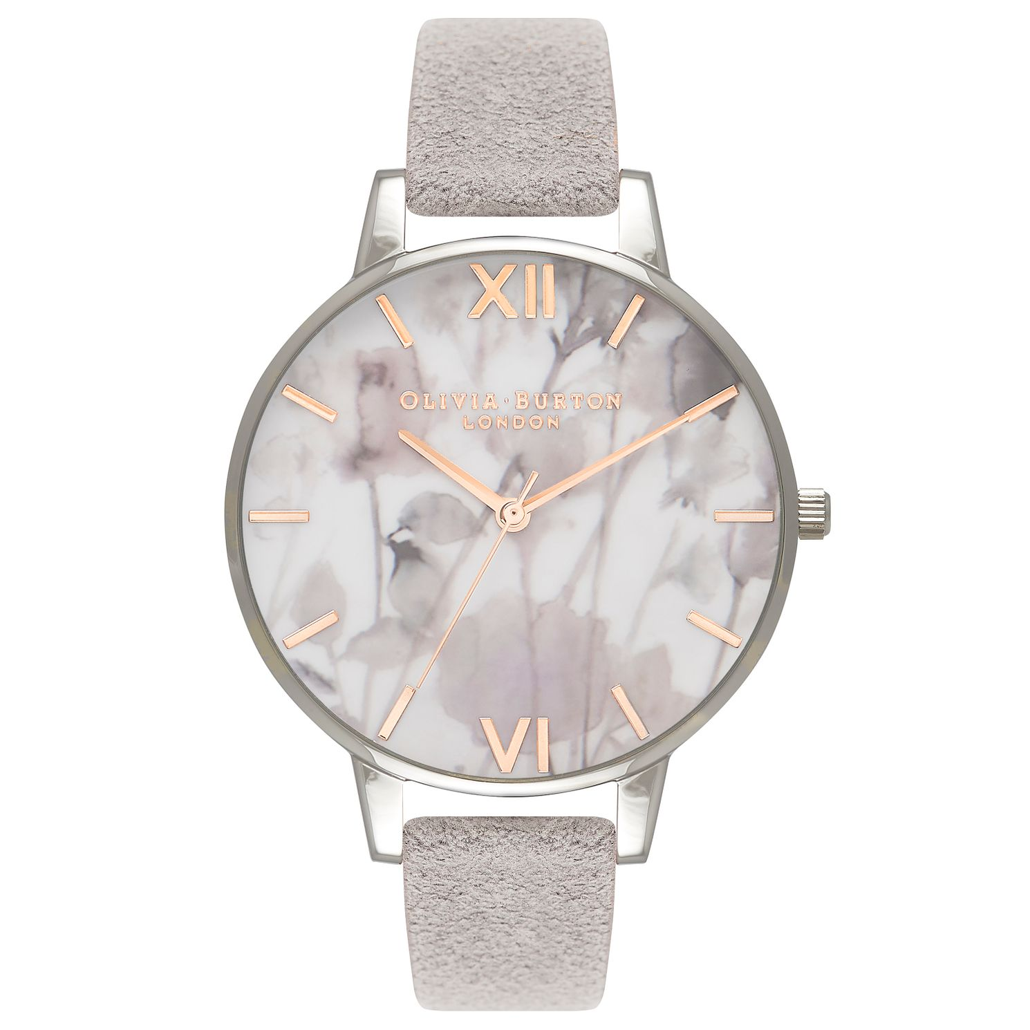 Olivia Burton Stainless Steel Silver Floral Strap Watch - Product number 4719085