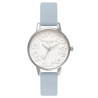 Olivia Burton Stainless Steel Round Blue Strap Watch - Product number 4719123