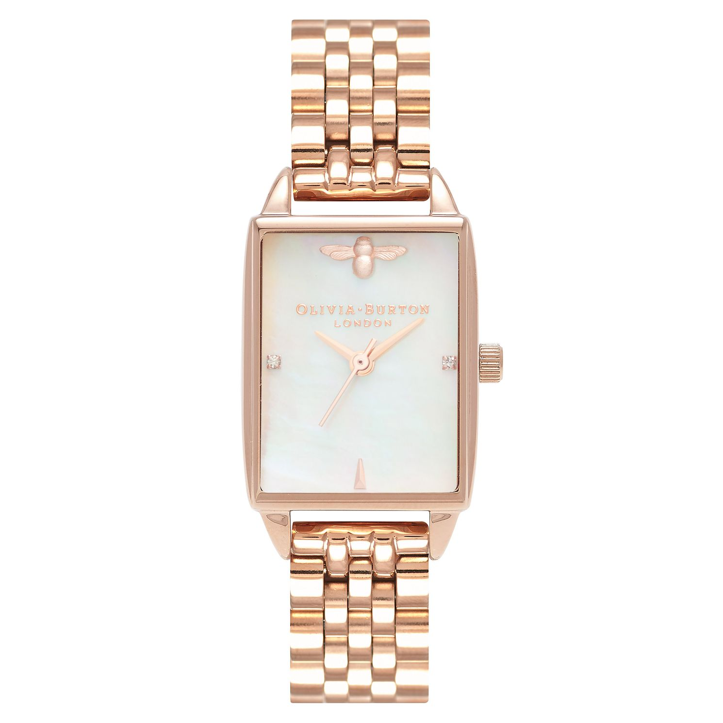 Olivia Burton Rose Gold Plated Mother Of Pearl Watch - Product number 4719182