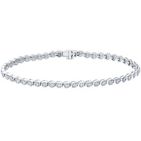 9ct White Gold 1/2ct Diamond Tennis Bracelet - Product number 4720059