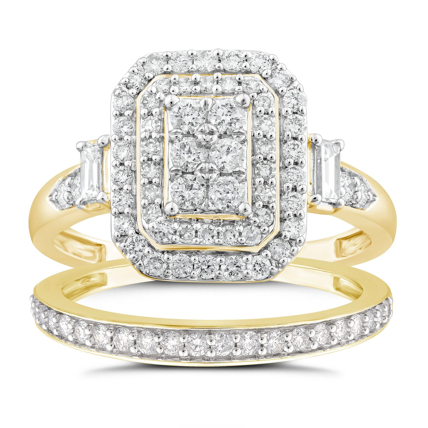 Perfect Fit 9ct Gold 0.80ct Total Diamond Bridal Set - Product number 4720237