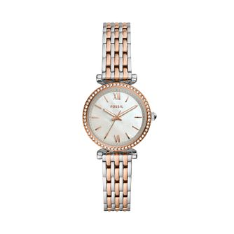 Fossil Carlie Mini Crystal Ladies' Two Tone Bracelet Watch - Product number 4720253