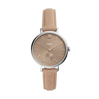 Fossil Kay Ladies' Nude Leather Strap Watch - Product number 4720261