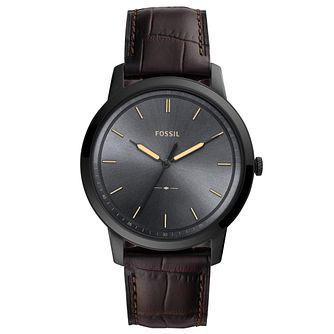 Fossil The Minimalist Men's Brown Leather Sstrap Watch - Product number 4720326
