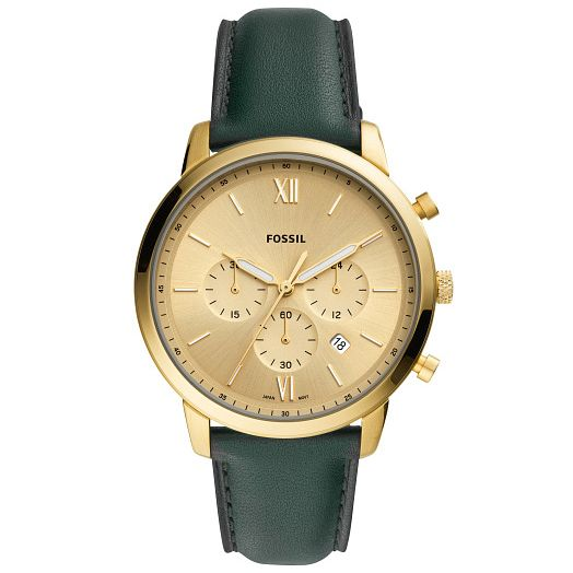 Fossil Neutra Chronograph Men's Green Leather Strap Watch - Product number 4720334