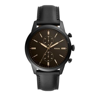 Fossil Townsman Men'S Ip Chronograph Leather Strap Watch - Product number 4720342