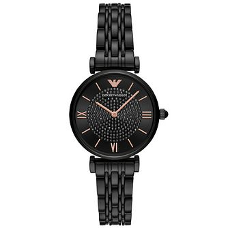 Emporio Armani Ladies' Black Ip Bracelet Watch - Product number 4720660