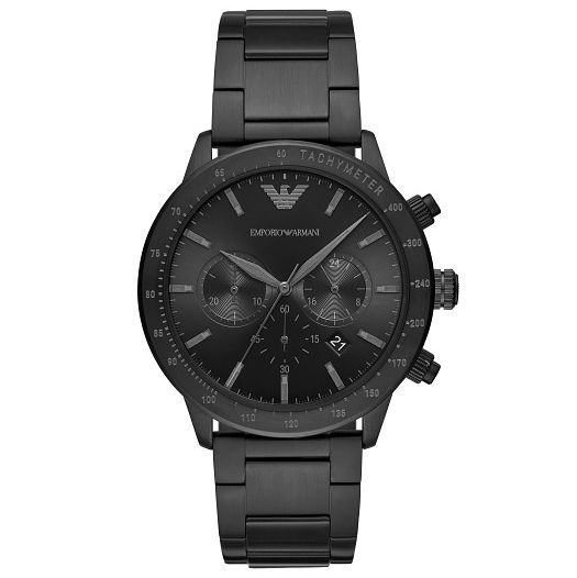 Emporio Armani Chronograph Black Ip Bracelet Watch - Product number 4720741