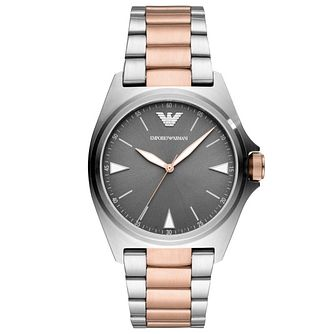 Emporio Armani Men's Two Tone Bracelet Watch - Product number 4721020