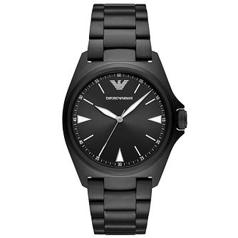 Emporio Armani Men's Black Ip Bracelet Watch - Product number 4721047