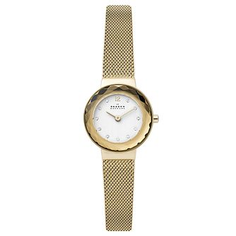 Skagen Leonora Ladies' Gold Tone Mesh Bracelet Watch - Product number 4721144