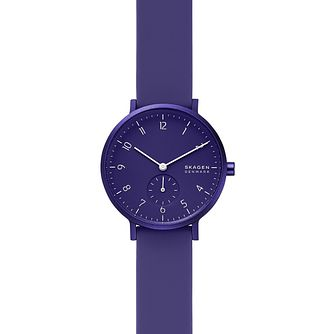 Skagen Aaren Kulor Ladies' Purple Silicone Strap Watch - Product number 4721152