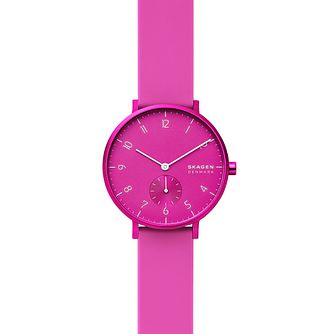 Skagen Aaren Kulor Ladies' Pink Silicone Strap Watch - Product number 4721160