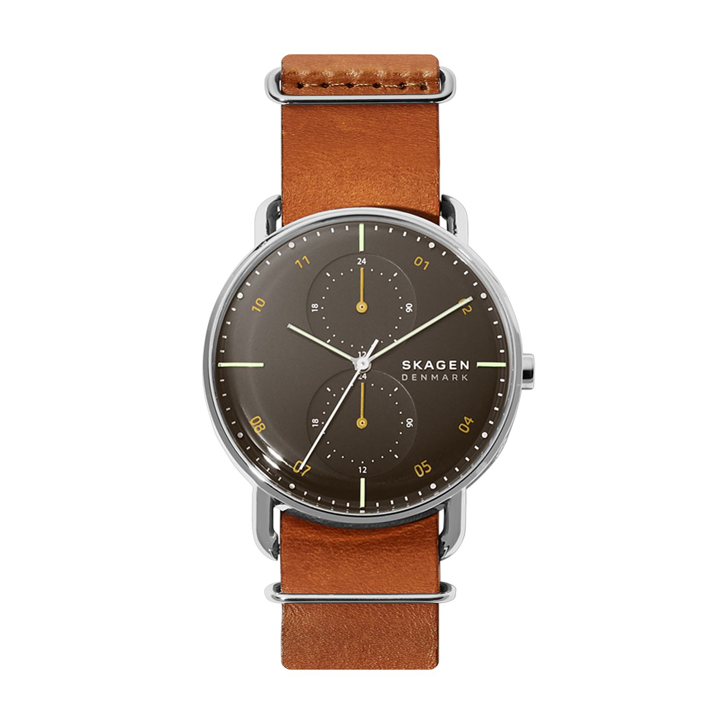 Skagen Horizont Men's Brown Leather Strap Watch - Product number 4721187
