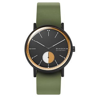 Skagen Signatur Field Men's Green Silicone Strap Watch - Product number 4721268