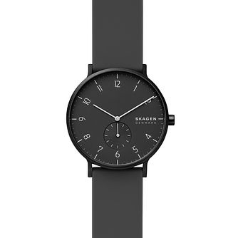 Skagen Aaren Kulor Black Silicone Strap Watch - Product number 4721276