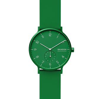Skagen Aaren Kulor Green Silicone Strap Watch - Product number 4721292