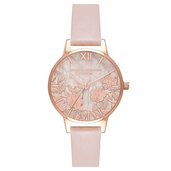 Olivia Burton Rose Gold Plated Rose Quartz Vegan Strap Watch - Product number 4722086