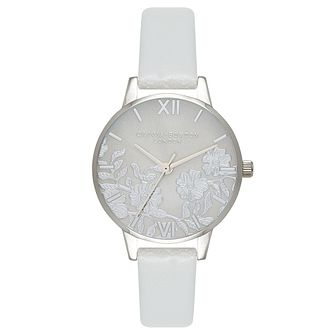 Olivia Burton Stainless Steel Lace Silver Strap Watch - Product number 4722094