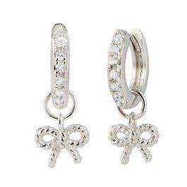 3ac0c44db Olivia Burton Vintage Bow Silver & Crystal Hoop Earrings - Product number  4722221