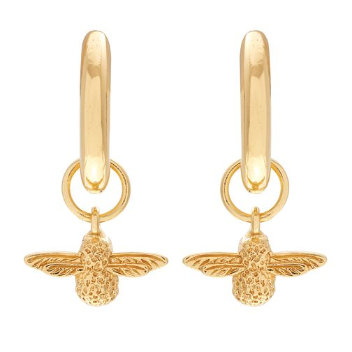 Olivia Burton Yellow Gold Plated Queen Bee Drop Earrings - Product number 4722558