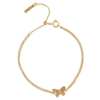 Olivia Burton Yellow Gold Plated 3D Butterfly Bracelet - Product number 4722612