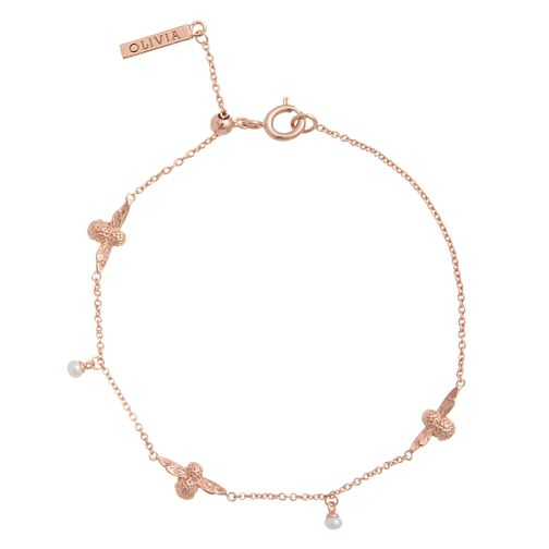 Olivia Burton Rose Gold Plated Pearl Bee Bracelet - Product number 4722620