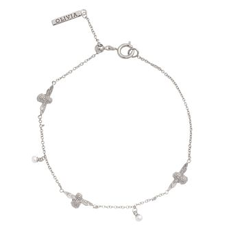 Olivia Burton Rhodium Plated Pearl Bee Bracelet - Product number 4722639