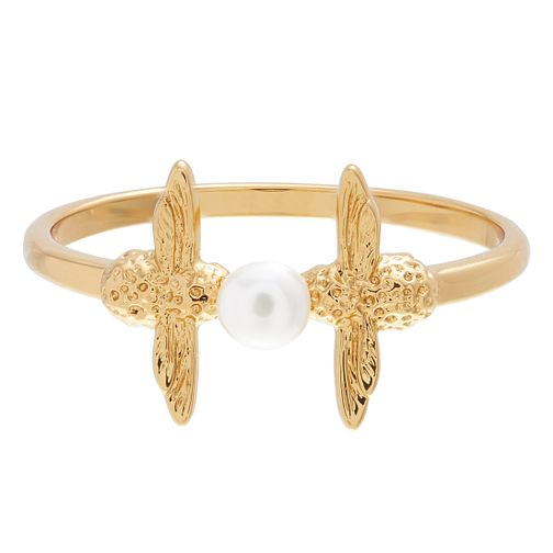 Olivia Burton Yellow Gold Plated Pearl Bee Ring - Product number 4722655
