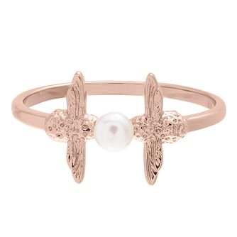 Olivia Burton Rose Gold Plated Pearl Bee Ring - Product number 4722671