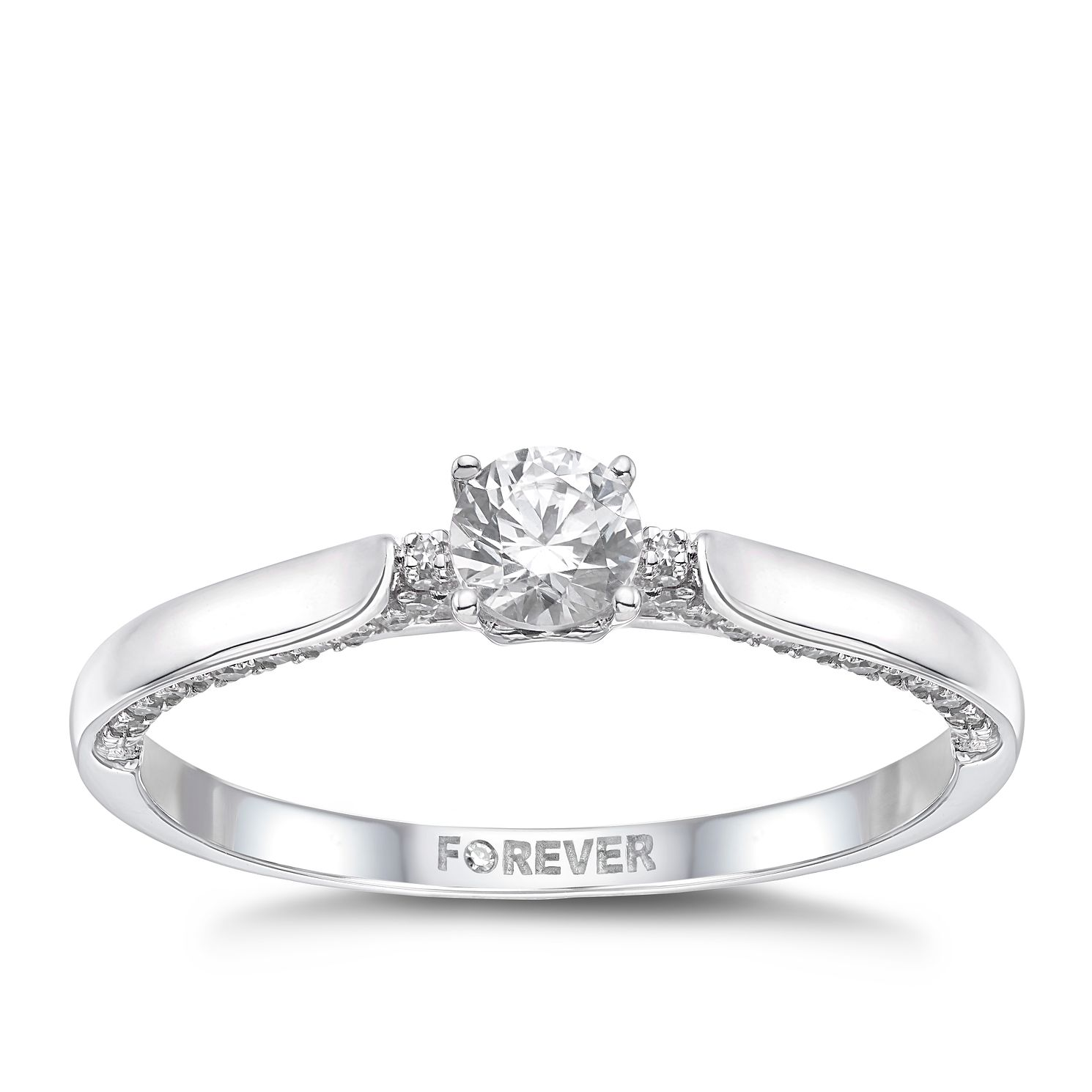 18ct White Gold 1/2ct Forever Diamond Ring - Product number 4723228