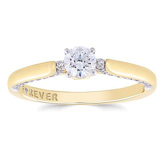 The Forever Diamond 18ct Yellow Gold 0.50ct Total Ring - Product number 4724704